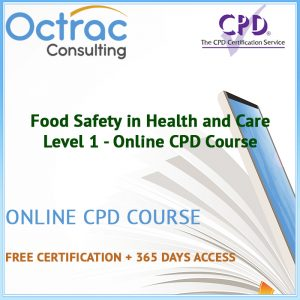 Food Safety in Health and Care - Level 1 - Online CPD Course