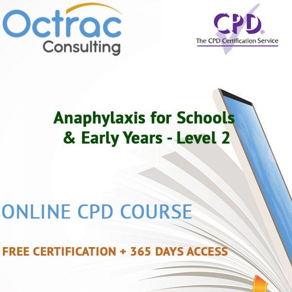 Anaphylaxis for Schools & Early Years - Level 2 - Online CPD Course
