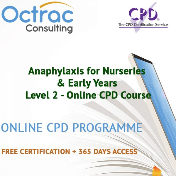 Anaphylaxis for Nurseries & Early Years – Level 2 - Online CPD Course