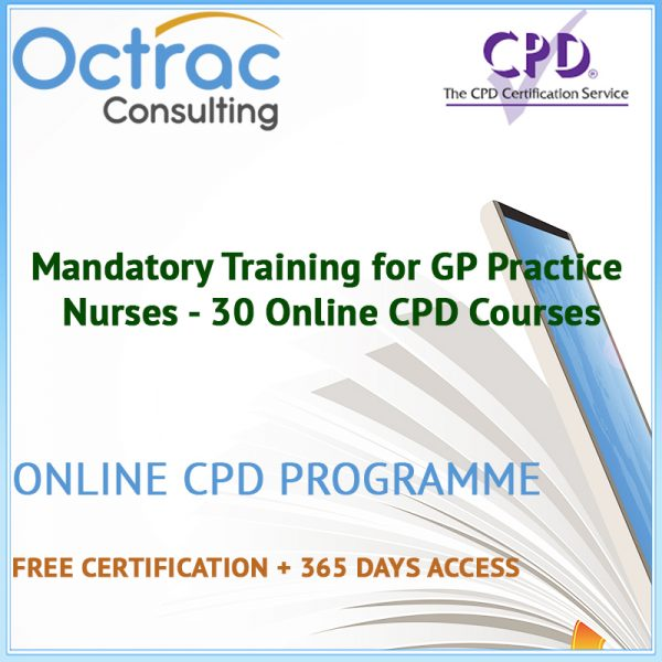 Mandatory Training for GP Practice Nurses - 30 Online CPD Courses